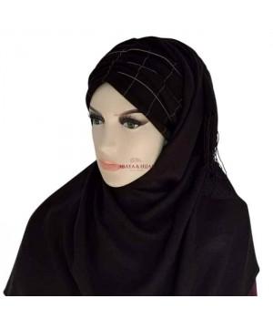 hijab noir a carreaux pas cher