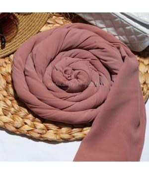 hijab soie de medine marron