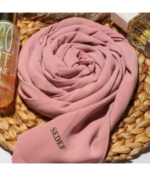 hijab soie de medine en enfiler rose sedef