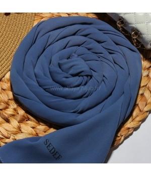 hijab soie de medine a enfiler bleu sedef