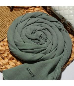 Hijab jazz vert mat