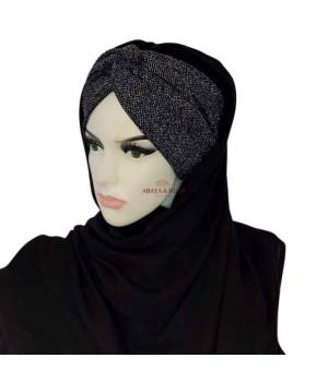 hijab avec bandeau brillant