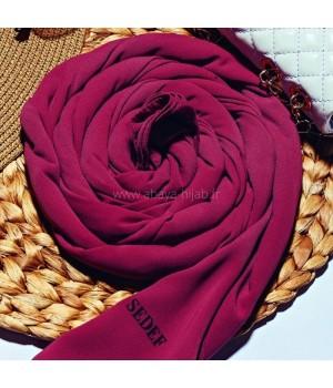 Hijab soie de medine prune