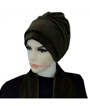 turban a enfiler kaki hiver matière chaude pas cher