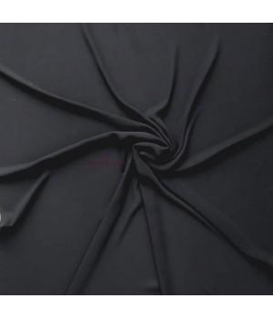 hijab noir crêpe