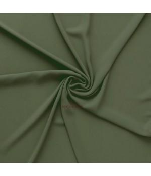 hijab crêpe vert militaire opaque pas cher