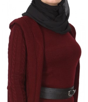 ensemble hijab moderne bordeaux