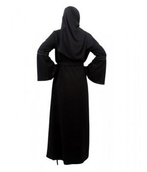 abaya kimono noire manches larges