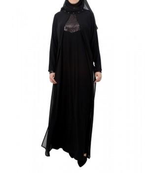abaya robe longue noire mode pudique