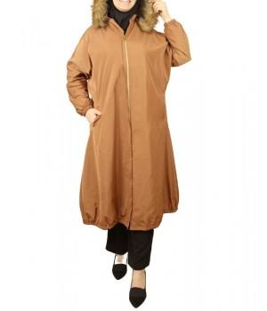 manteau femme voilée