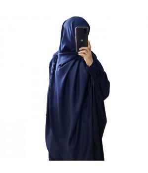 Hijab bleu marine satiné