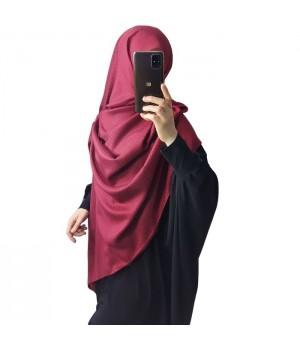 hijab satiné rouge