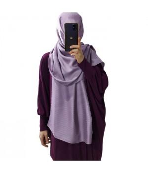 hijab satiné mauve
