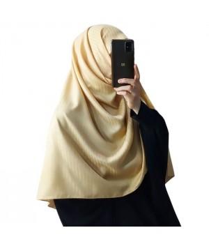 hijab satiné moutarde