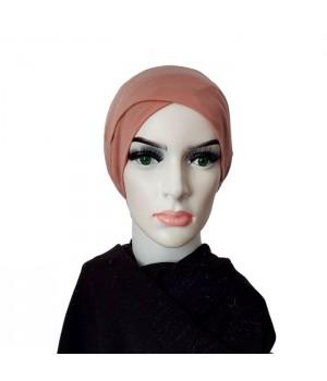 Bonnet croisé rose