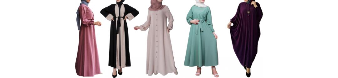 Robe longue chic - Robe longue hijab  moderne - Abaya pas cher