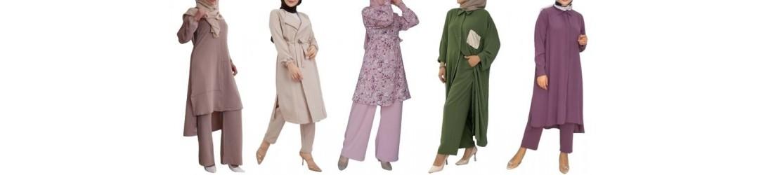 Ensemble femme voilée moderne - Ensemble femme hijab de qualté