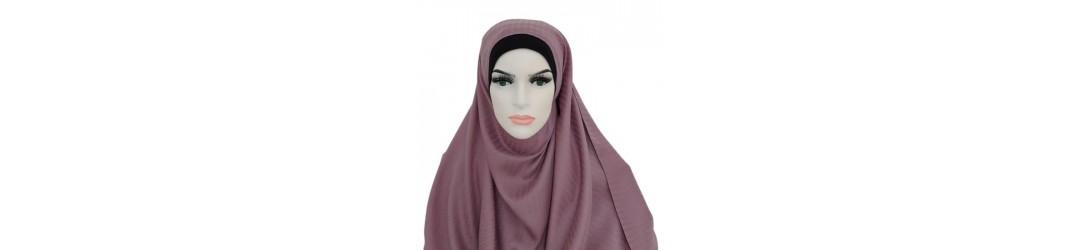 Large choix de hijab en tout genre - Hijab a enfiler - Hijab pas cher